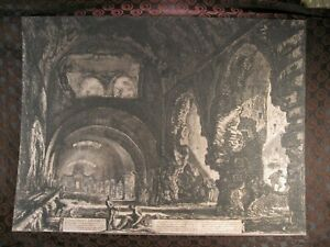 "Original Piranesi Etching "" Villa of Maecenas """