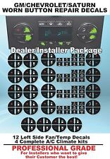 16 PIECE GM Tahoe Suburban Acadia Worn Buttons Repair Decals AC Climate Control.