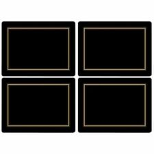 749151452428 Placemats, One Size, Black