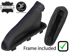 PURPLE STITCH LEATHER HANDBRAKE BOOT + PLASTIC FRAME FITS ALFA ROMEO MITO 08-17