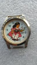 Vintage Cinderella character wristwatch with action dove Arios swiss made