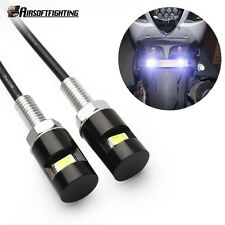 2X Car Auto Motorcycle Tail Number License Plate White LED SMD Screw Bolt Light