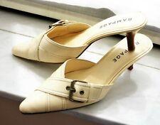 37,5-38_RAMPAGE_Sandale blanc écru à Talon_Chaussure crème Femme_Escarpin_Shoes