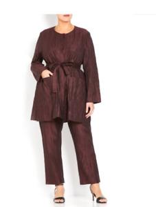 MARINA RINALDI, 2 Pieces- Blazer & Pants, Size 27 MR, 18W US, 48 DE, 56 IT