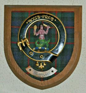 Clan Murray wall plaque shield crest scottish Scotland tartan