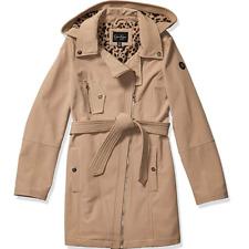 Jessica Simpson Women's Hooded Belted Softshell Fashion Jacket Bone, Large