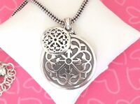 Brighton Ferrara Double Medallion Coin  Pendant  Silver Necklace New Tags $78