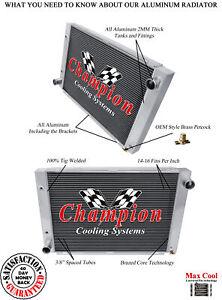 3 Row Aluminum Champion Radiator for 1966 1967 Lincoln Continental V8 Engine