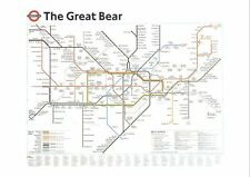 Rare Art Postcard, The Great Bear by Simon Patterson, London Underground Map 77K