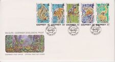 Unaddressed Guernsey FDC Cover 1989 Wildlife Zoological Trust 10% off 5