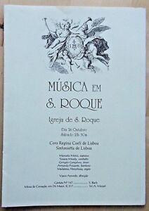 Musica em S. Roque Igreja de S. Roque programme 26/10 Manuela Moniz Susana Moody