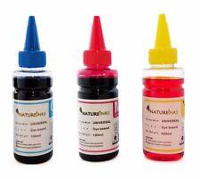 300ml Natureinks Universal Cyan Magenta Yellow ink Bottles kit CISS cartridge