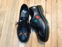 Dr Martens Doc's mens patch lace up black leather oxford shoes 1461 NWOB size 12