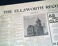Rare ELLSWORTH Pierce County WISCONSIN Village Early 20th Century 1902 Newspaper