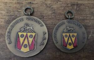 2 Vintage Lancashire County Amateur Athletics Association Medals