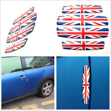 4 X Soft Silicone Union British Flag Emblem Car Anti-Rub Decorative Strips Decal
