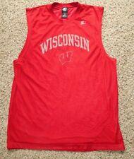 de0af10f7 Wisconsin BADGERS Starter Sleeveless Double Layered Jersey   Shirt - Men s  Large