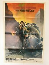 THE GAUNTLET ORIGINAL 1977 MOVIE POSTER CLINT EASTWOOD 1 SHEET 27 X 41 INCH'S