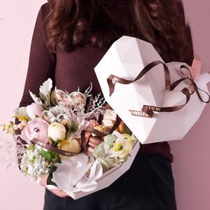 Luxury Heart Shaped Gift Box Set (Incl. Bag, Gift card & Shredded Paper) White