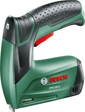 Stapler Bosch battery PTK 3,6 LI with 1000 Staples Charger and box of Metal