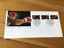 Australia Seoul Olympics Boxing stamps cover  Ref 55830