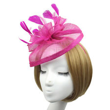3b9330acc16c2 Women Fascinator Feather Cocktail Party Pillbox Hat Flower Wedding Party Hat