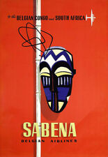 Airline Plane Sabena Travel  South Africa Congo  Poster Print