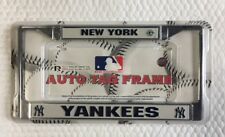 New York Yankees Chrome Metal Auto Car Truck Tag License Plate Frame New