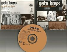 GETO BOYS The World is a Ghetto w/ CLEAN TRX & INSTRUMENTAL PROMO DJ CD single