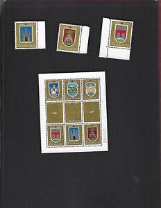 Yugoslavia sc#1017-19 #1020 Souvenir Sheet (1970) Complete MNH