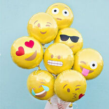 "New 18"" Emoji Mylar Balloons Yellow Smiley Faces Emotions Birthday Party Decor"