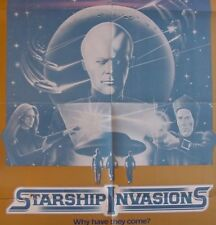 STARSHIP INVASION 1 sh .1977. GREAT SF IMAGERY - CHRISTOPHER LEE - ALIENS VG
