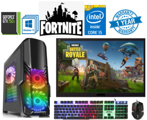 Gaming PC Computer Bundle Intel Quad Core i5 16GB 1TB Windows 10 2GB GTX750TI ✅