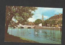 Vintage Colour Postcard General View The Bridge Bedford posted 1971
