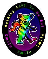 Tie Dye Dancing Bear Vinyl Sticker Decal Hippie Rock n Roll Grateful Dead Yeti
