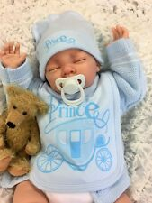 REBORN BABY BOY DOLL FLOPPY, FEELS REAL TO HOLD, LITTLE PRINCE  S