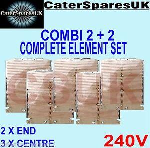 NEW DUALIT COMBI 2X2 4 SLOT FOUR SLICE TOASTER HEATING ELEMENT SET OF 5