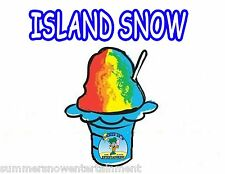 ISLAND SNOW SYRUP MIX Snow CONE/SHAVED ICE Flavor GALLON CONCENTRATE #1FLAVOR