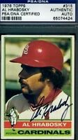 Al Hrabosky Signed Psa/dna 1976 Topps Autograph Authentic