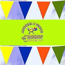 BANDIERINE MULTICOLOR 10 M, festa, manifestazioni, festone, bandiere, palloncini