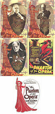 """Classic Vintage - Sci Fi/Horror - """"Phantom of the Opera"""" Chase Card Set of 5"""