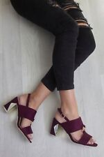Womens Block Heel Ankle Buckle Up Strappy Peep Toe Sandals Shoes Pumps Size New