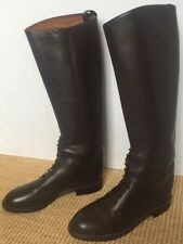 New Nine West Tall Dark Brown Leather Riding Boots sz 6 M