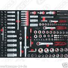 KS Tools BBA 1/4+3/8 + 1/2 INSIEME Zoccolo 180tlg 1/1 systemeinlage 711.0180