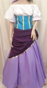 Esmeralda Hunchback of Notre Dame Gypsy Costume Dress, Adult, Your Custom Size