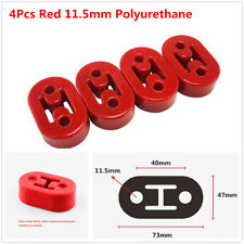 4Pcs 11.5mm Car Exhaust Tail Pipe Mount Bracket Hangers Insulator 2 Holes Red