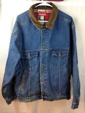 Vintage MarlboroCountry Store Jean Jacket Men's Medium Marlboro Plaid Denim VTG