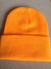 Men's Women Beanie Knit Ski Cap Hip-Hop ORANGE Winter Warm Unisex Hat