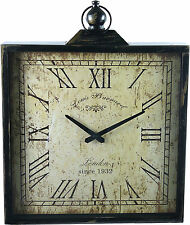 French Provincial Square Louis B Wall Mountable Wall Clock 38cm Square