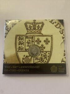 UK 2013 350th anniversary of the gold guinea 2 pound coin SEALED